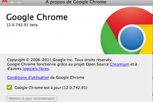 Google corrige 15 bugs avec Chrome 12