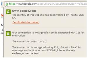 Google prot�ge son trafic HTTPS des attaques � venir