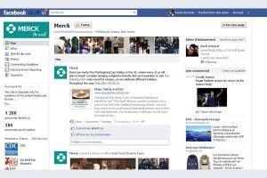 La page Facebook du labo pharmaceutique Merck KGaA d�tourn�e