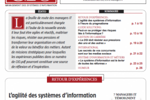 CIO.PDF 46 : Agilit� des syst�mes d'information et protection des risques