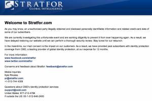 Piratage de Stratfor par Anonymous : 160 000 mots de passe décodés