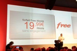 Avec un forfait � 20 euros, Free fait une entr�e fracassante sur le march� mobile
