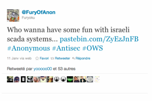 Anonymous publie des détails sur les systèmes SCADA israéliens