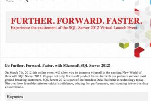 SQL Server 2012 , lancement prévu le 7 mars 2012