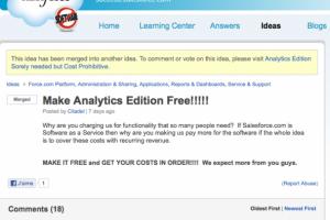 D�cisionnel : Salesforce.com ne facturera pas de suppl�ments