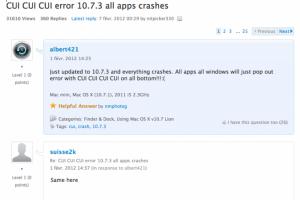 Mise à jour Lion 10.7.3 difficile pour certains clients d'Apple