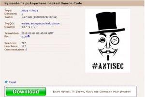 Les Anonymous publient le code source de pcAnywhere (MAJ)