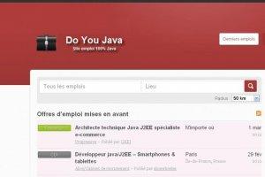 Lancement de DoYouJava, site d'emploi 100% Java