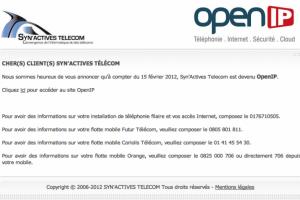 Les actifs de Syn'Actives repris par OpenIP