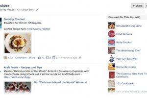 Facebook pr�sente ses listes d'int�r�ts