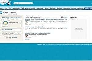 Salesforce.com int�gre Rypple � son CRM et simplifie Site.com