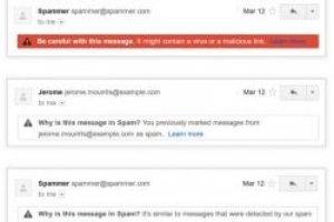 Gmail va expliquer pourquoi certains mails sont class�s en spam