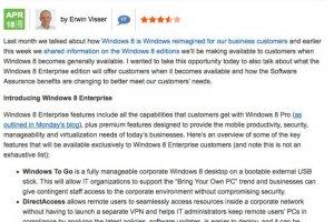 Microsoft détaille les spécificités de Windows 8 Enterprise
