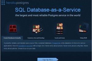 Heroku ajoute deux options d'entr�e de gamme � sa base Postgres en ligne