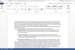 Office web Apps mis à jour pour un meilleur usage sur iPad