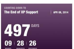 Le compte à rebours de XP est passé sous les 500 jours
