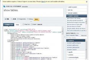 La console YQL de Yahoo est exposée aux attaques intersites