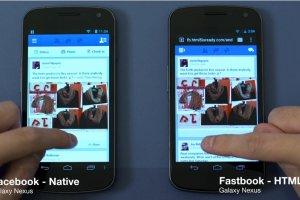 Fastbook démontre les bénéfices de HTML5 face aux applis natives Facebook