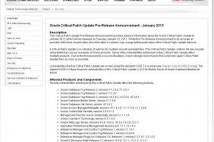 Oracle va livrer 86 correctifs de s�curit� dont 18 pour MySQL
