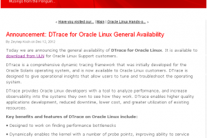 Oracle porte l'outil DTrace sur sa distribution Linux