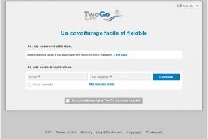 SAP lance l'application de covoiturage TwoGo