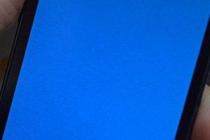 L'iPhone 5S victime d'un �cran bleu
