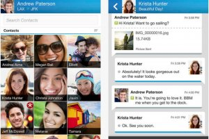 BlackBerry remet � disposition son app BBM pour iOS et Android