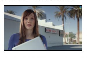 Microsoft démolit le Chromebook dans une pub