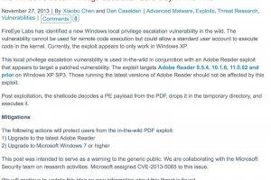 Des pirates exploitent une faille dans Windows XP et Server 2003