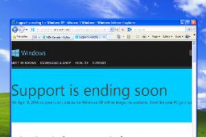 Microsoft ouvre une fenêtre d'avertissement pour la fin du support de XP