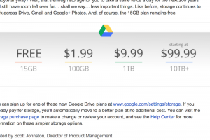 Google casse les prix du stockage en ligne
