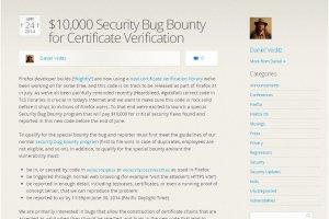 Vérification des certificats SSL: Mozilla lance une chasse aux bugs