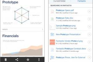 Dropbox pour Android revisite son moteur de recherche