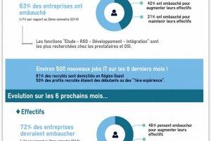Pays de la Loire : Les DSI ont moins embauché que les prestataires début 2015