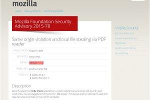 Mozilla corrige une faille critique exploit�e sur Firefox