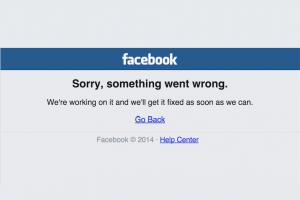 Facebook a connu 2 pannes en 1 semaine
