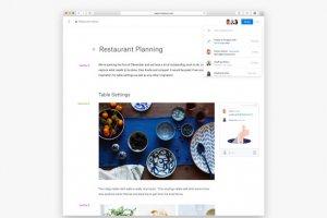 Dropbox propose aussi un outil d'écriture collaborative à son service