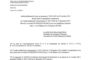 Interxion peut provisoirement poursuivre ses activités à La Courneuve