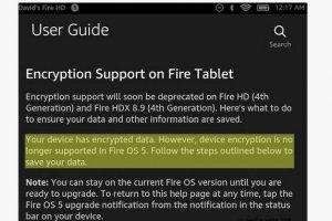 Amazon critiqué pour l'abandon du chiffrement sur Fire OS 5
