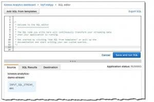 Kinesis Analytics : AWS plonge SQL dans le flot des données