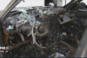Une Jeep a brulé suite à l'explosion d'un Galaxy Note 7 en Floride