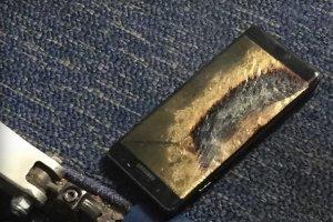Un Galaxy Note 7 reconditionné prend feu dans un avion
