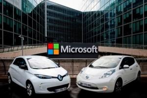 Microsoft aurait investi 75 M€ dans les voitures connectées Renault-Nissan