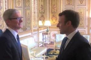Emmanuel Macron rencontre Tim Cook sur fond de contentieux fiscal