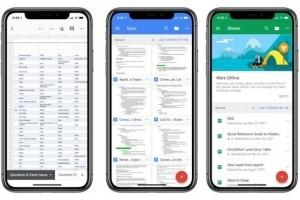 Mise à jour de Google Suite pour iOS 11