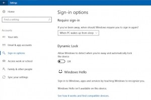 Utiliser le verrouillage dynamique dans Windows 10