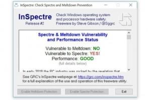 InSpectre : Vérifier la protection contre les exploits Meltdown/Spectre