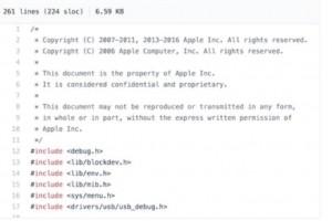 Le code source d'iOS 9 , avec son bootloader, fuite sur Github