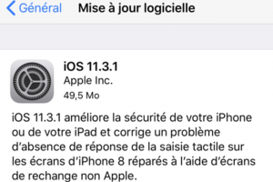 Apple a corrigé le bug iOS 11.3 rendant les iPhone 8 inutilisables