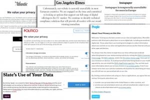 RGPD : blocage inattendu de certains sites américains